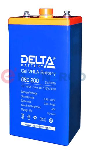 Аккумулятор Delta GSC 200