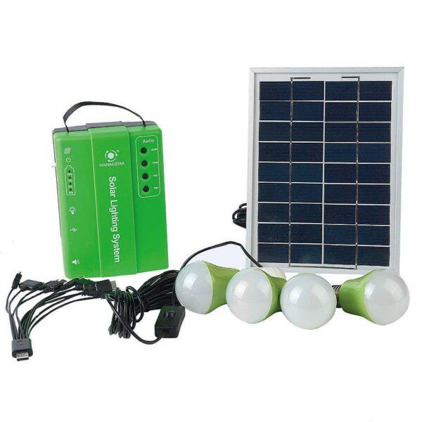 Портативный комплект освещения на солнечной батарее E-Power HT-732G