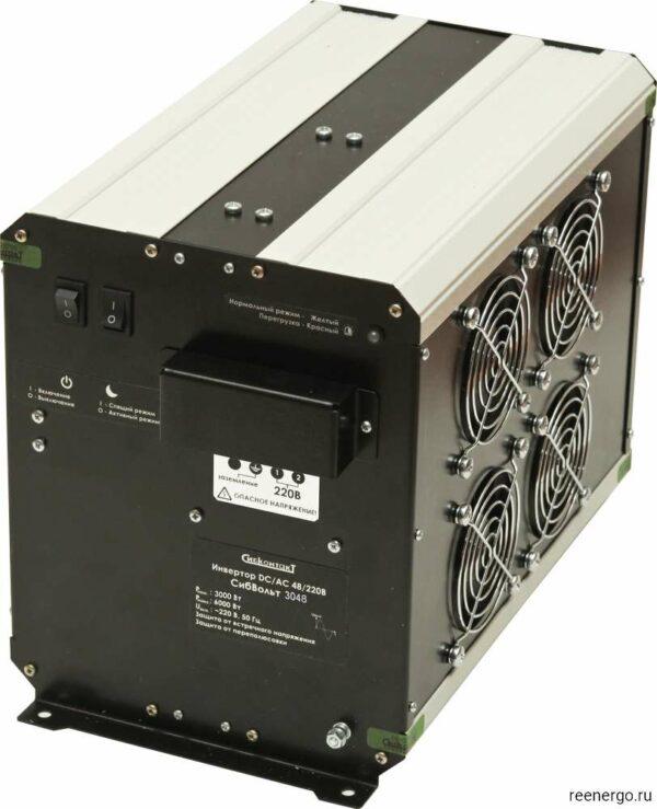 СибВольт 3048 Li-ion инвертор DC-AC обратная сторона