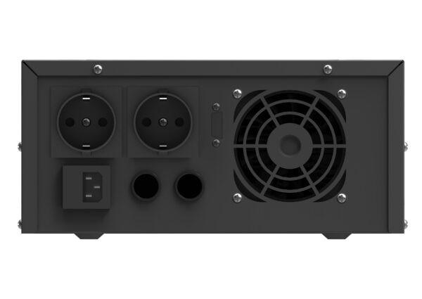 Инвертор ИБП SALT 1000R задняя панель