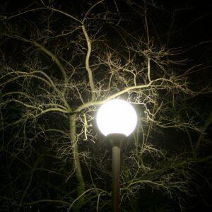 освещение ночью зимой