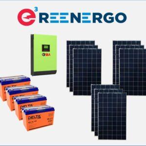 комплект солнечной электростанции дом-1