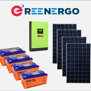 комплект солнечной электростанции дом-10