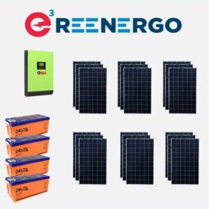комплект солнечной электростанции дом-2