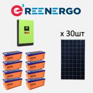 комплект солнечной электростанции дом-3