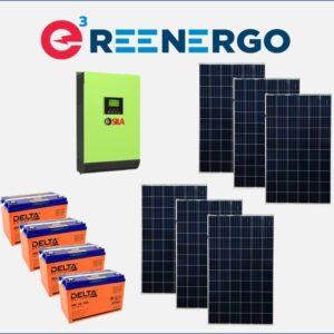 комплект солнечной электростанции дом-4