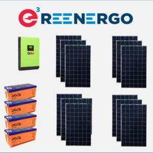 комплект солнечной электростанции дом-5