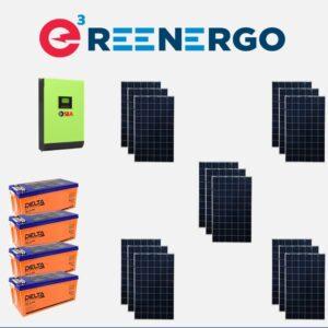 комплект солнечной электростанции дом-8