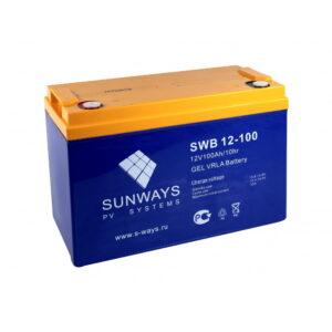 Аккумулятор SUNWAYS SWB 12-100G (12В | 100Ач) гелевый